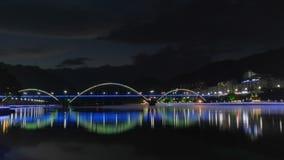 Xin& x27;河夜景 库存图片