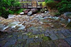 Xin Beitou Gorącej wiosny rzeka Fotografia Royalty Free