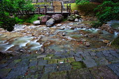 Xin Beitou Hot Spring River Royalty Free Stock Photography