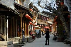Xin Xing Zhen, Cina: Vecchie Camere belle Immagine Stock Libera da Diritti
