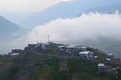 Xinaliq, Αζερμπαϊτζάν, ένα μακρινό ορεινό χωριό στη μεγαλύτερη σειρά Καύκασου Στοκ εικόνα με δικαίωμα ελεύθερης χρήσης