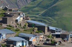 Xinaliq, Aserbaidschan, ein Fernbergdorf in der größeren Kaukasus-Strecke Stockfotos