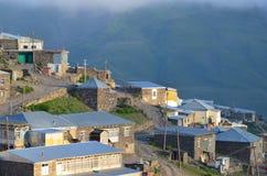 Xinaliq, Azerbaïdjan, un village de montagne à distance dans la chaîne plus grande de Caucase Photo libre de droits