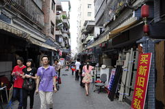 Xinan city of old street. Is song dynasty when the left over from the old street in the old street is located in the bustling downtown of shenzhen, and traffic Royalty Free Stock Images
