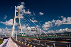 Xinbei Bridge. Bridge under blue sky at Taiwan Stock Photo