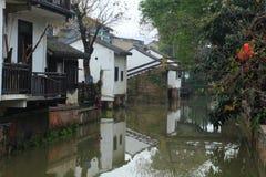 Xinchang forntida stad Shanghai pudong Arkivfoto