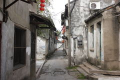 Xincheng old town with narrow street and historic road(Jiaxing,China) Stock Photography