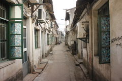 Xincheng old town with narrow street and historic road(Jiaxing,China) Royalty Free Stock Photography