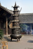 Xindu, China: Pagoda Paper Burner Temple Royalty Free Stock Photo