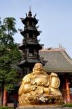xing菩萨瓷长的pengzhou的寺庙 免版税库存照片