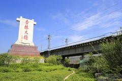 Xinglin bro (den Jiang Zemin inskriften) Arkivbild