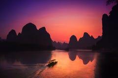 Xingping & ηλιοβασίλεμα στοκ φωτογραφίες