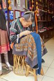 Xingping young seamstress china Royalty Free Stock Image