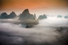 Xingping Landscape Royalty Free Stock Photography