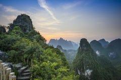 Xingping landskap Arkivbild