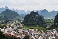 The xingping viewpoint Royalty Free Stock Images