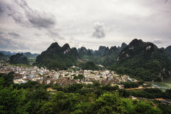 The xingping viewpoint Stock Image