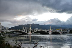XingShen Bridge in Dali city ,Yunnan China. Royalty Free Stock Images