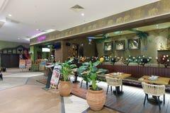 Xingzhoujiaoye restaurangyttersida Arkivbilder