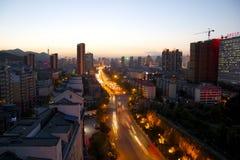Xining au crépuscule photos libres de droits
