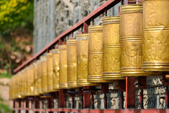 XINING, CHINA - 6 de julho de 2014: Templo sul da montanha (si de Nanshan) A fotografia de stock