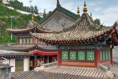 XINING, CHINA - 30 de junho de 2014: Monastério de Kumbum um marco famoso fotografia de stock royalty free