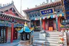 XINING CHINY, Jul, - 6 2014: Południowa Halna świątynia (Nanshan si) A Zdjęcia Stock