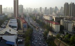 Xining in de loop van de dag stock fotografie