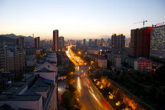 Xining At Dusk Royalty Free Stock Photos