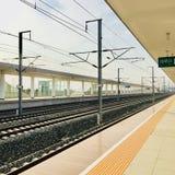 Xinji järnvägsstation, Hebei landskap royaltyfria foton