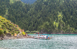 Xinjiang's Heavenly Lake Royalty Free Stock Photography