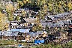Xinjiang, china: baihaba village Royalty Free Stock Photography