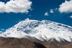 XINJIANG, CHINA - 21 de maio de 2015: Mustagh Ata Mountain um la famoso Fotografia de Stock