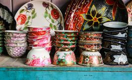 China. Xinjiang, China is full of exotic porcelain royalty free stock photos