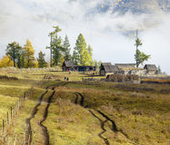 Xinjiang, China: klein dorp Royalty-vrije Stock Afbeelding