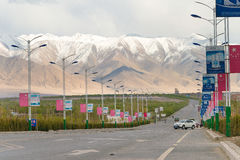 XINJIANG, CHINA - 21. Mai 2015: Alte Stadt von Tashkurgan ein fam lizenzfreie stockbilder