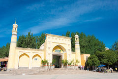 XINJIANG, CHINA - May 24 2015: Id Kah Mosque. a famous historic. Site in Kashgar, Xinjiang, China Royalty Free Stock Image