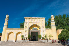 XINJIANG, CHINA - May 24 2015: Id Kah Mosque. a famous historic. Site in Kashgar, Xinjiang, China Royalty Free Stock Photo