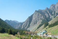 XINJIANG, CHINA - May 10 2015: Nanshan Pasture. a famous landscape in Urumqi, Xinjiang, China. Royalty Free Stock Images
