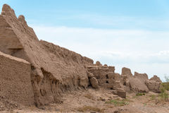 XINJIANG, CHINA - May 06 2015: Qocho (Gaochang) City Ruins. a fa. Mous World Heritage Sites in Turpan, Xinjiang, China royalty free stock image