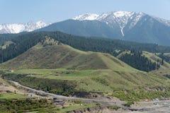 XINJIANG, CHINA - May 10 2015: Xinjiang Tianshan. a famous lands stock photo