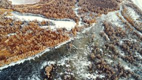 Xinjiang, China: Spring of Desert Germination after Ice Melting in Tarim River stock photo