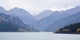 Xinjiang, china: tianchi lake Stock Images