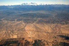 Xinjiang, China, tianshan mountain, aerial  Royalty Free Stock Image