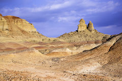 Xinjiang, china: yardang landform Royalty Free Stock Photography