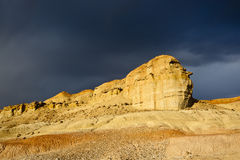 Xinjiang, china: yardang landform Stock Photos