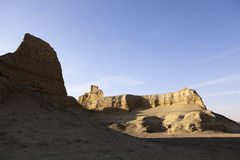 Xinjiang, china: yardang landforms Royalty Free Stock Photography