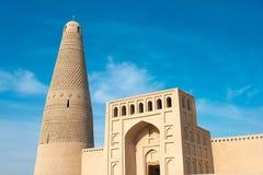 XINJIANG CHINY, Maj, - 03 2015: Emin minaret (Sugongta) sławny Fotografia Royalty Free