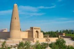 XINJIANG CHINY, Maj, - 03 2015: Emin minaret (Sugongta) sławny Zdjęcia Royalty Free