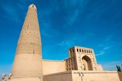 XINJIANG CHINY, Maj, - 03 2015: Emin minaret (Sugongta) sławny Obrazy Stock